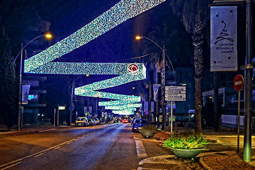 Traditional switch on of the Christmas lights in Platja d'Aro