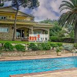 Villa on the first line of the sea in Blanes, Costa Brava, Spain