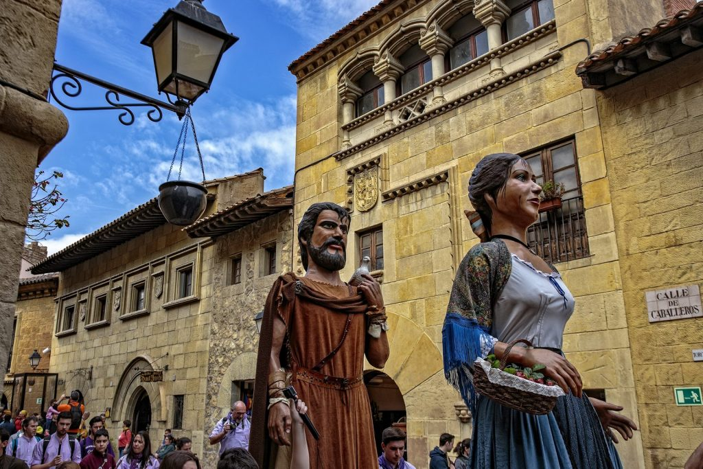 Giants procession in the Spanish Village, Barcelona