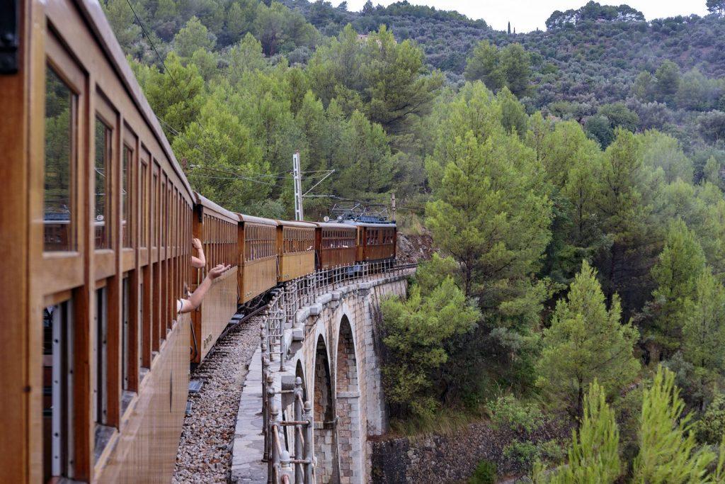 Retro-train ride to Soller, Mallorca