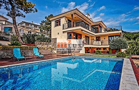 Modern house with sea views in the urbanization of Roca Grossa, Lloret de Mar, Costa Brava, Spain.